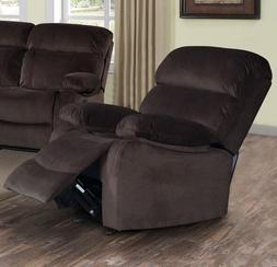 Dark Brown Velvet Power Recliner Arm Chair Armchair Armchair