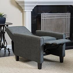Christopher Knight Home Darvis Grey Fabric Recliner Club Cha