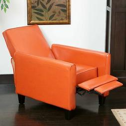 Best Selling Home Decor Darvis Leather Push Back Recliner