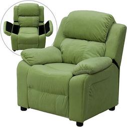 Deluxe Heavily Padded Contemporary Kids Recliner with Flip-U