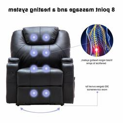 Electric Lift Power Recliner Chair Heated Massage Sofa Loung