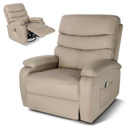Power Lift Chair Zero Gravity Massage Real Leather Recliner