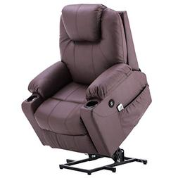 Mcombo Electric Power Lift Massage Sofa Recliner Heated Chai