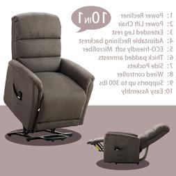 Electric Power Lift Recliner Chair Elderly Armchair W/RC Liv