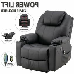 Electric Power Lift Recliner Chair Sofa Padded Seat Elderly