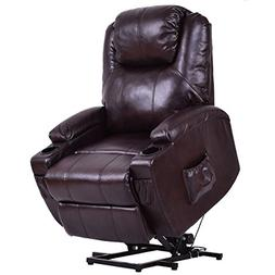 Giantex Electric Power Lift Recliner Chair for Elderly PU Le
