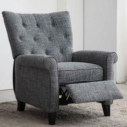Elizabeth Recliner Accent Chair Elegant Single Push Back Cha
