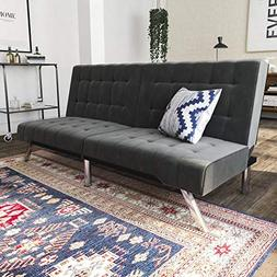 DHP Emily Futon Couch Bed, Modern Sofa Design Includes Sturd