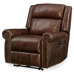 Hooker Furniture Esme Leather Power Recliner in Chocolate