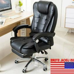 executive computer office chair swivel leather recliner