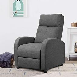 JUMMICO Fabric Recliner Chair Adjustable Home Theater Single