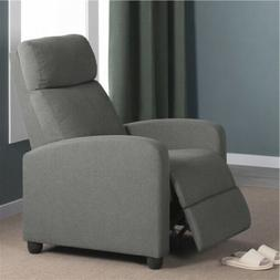 Fabric Recliner Chair Single Modern Sofa Home Theater Seatin