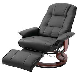 Faux Leather Adjustable Traditional Manual Swivel Recliner C
