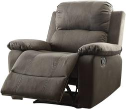 Acme Furniture Bina Recliner COLOR: CHARCOAL Polished Microf