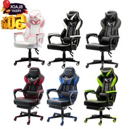 GAMING CHAIR RACING COMPUTER DESK SWIVEL SEAT RECLINER OFFIC