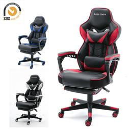gaming chair racing style leather office recliner