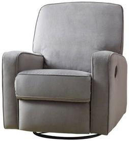 Gray Swivel Glider Recliner Grey Arm Chair Recliners Armchai