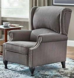 Gray Wingback Accent Recliner Chair Recliners Armchairs Arm