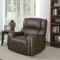Home Fare Upholstered Quilted Power Recliner with USB Chargi