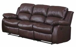 "Homelegance Resonance 83"" Bonded Leather Double Reclining So"