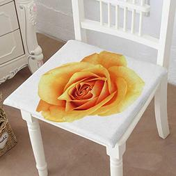 Mikihome Indoor/Outdoor All Weather Chair Pads Orange Rose I