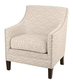"Ravenna Home Kaiden Patterned Nailhead Accent Chair, 33""W, L"