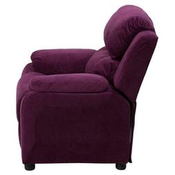 kids accent chair purple upholstered home decor