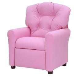 Kids Recliner Chair Pink Child Deluxe Padded Sofa armchair s