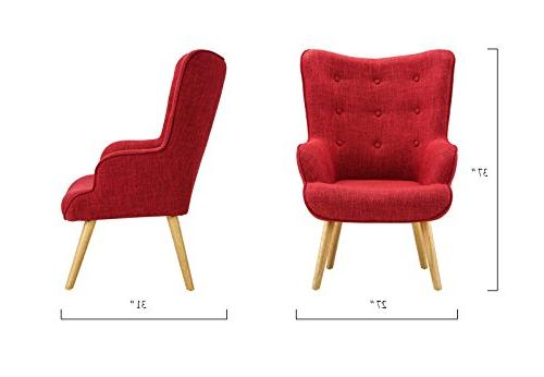 Accent for Room, Upholstered Detailing and Legs