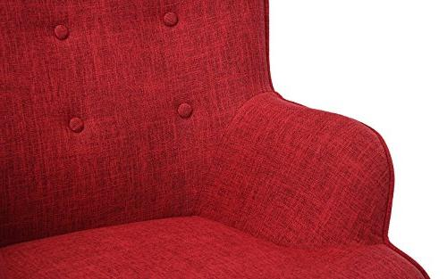 Accent for Room, Upholstered Chairs Tufted Detailing Legs