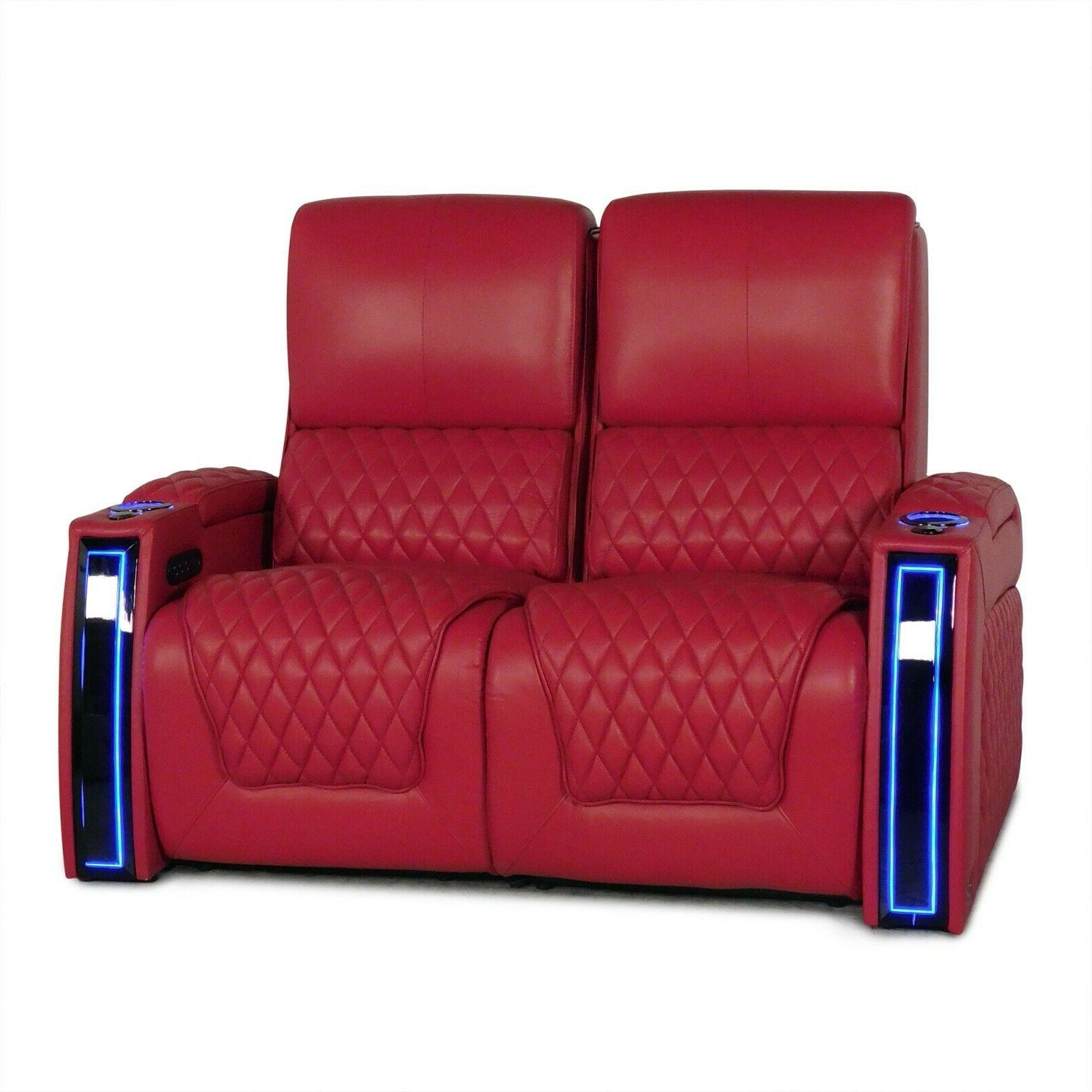 Seatcraft Red Home Theater Chairs Loveseat Power Recliners
