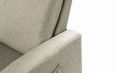 Beige Space Fabric Back Control
