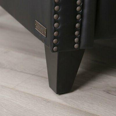 Braxton bonded leather Pushback foam support