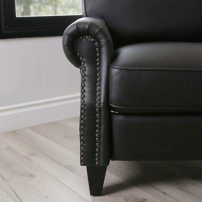 Braxton bonded leather Pushback Recliner foam support