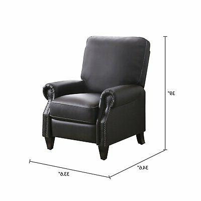 Braxton 100% bonded leather Pushback foam support