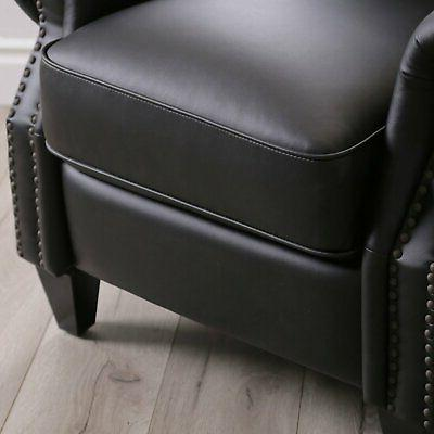 Braxton bonded leather Pushback with high-density foam support
