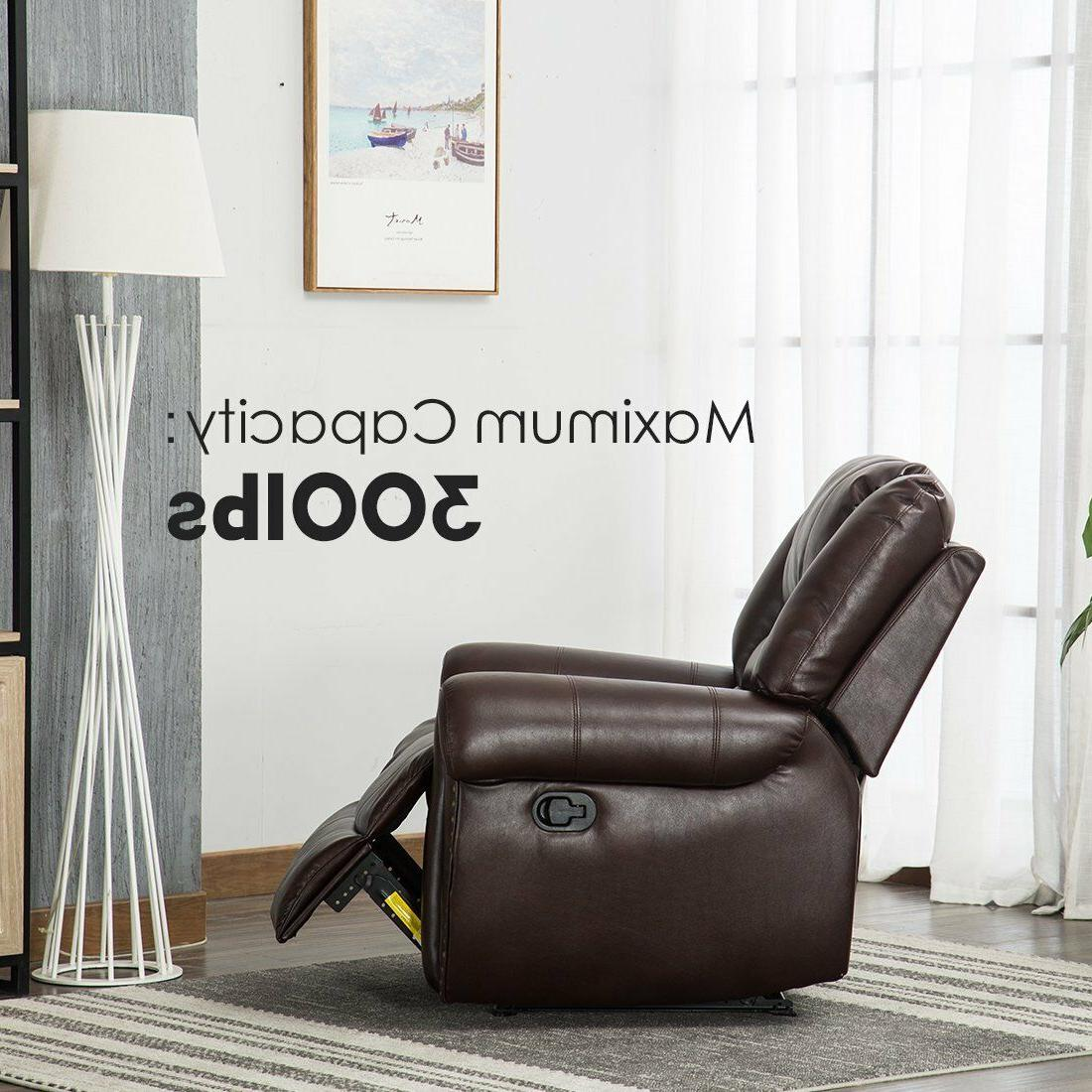 Leather Traditional Living Room Lounge Overstuffed