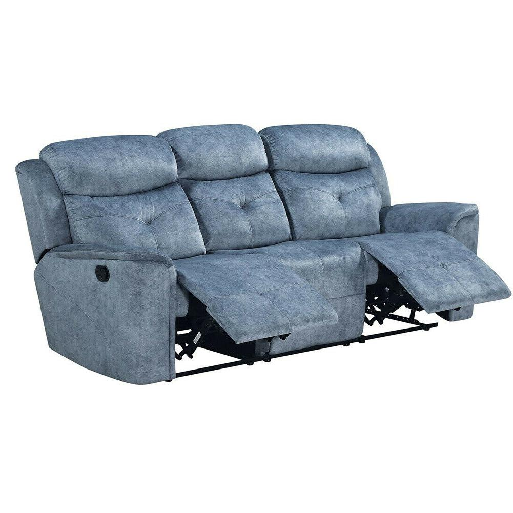 Casual Living Tufted Futon Couch Blue