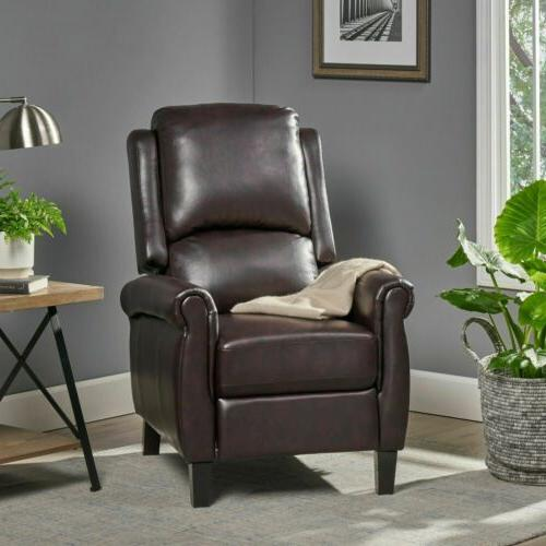 Memphis PU Leather Recliner Club Chair