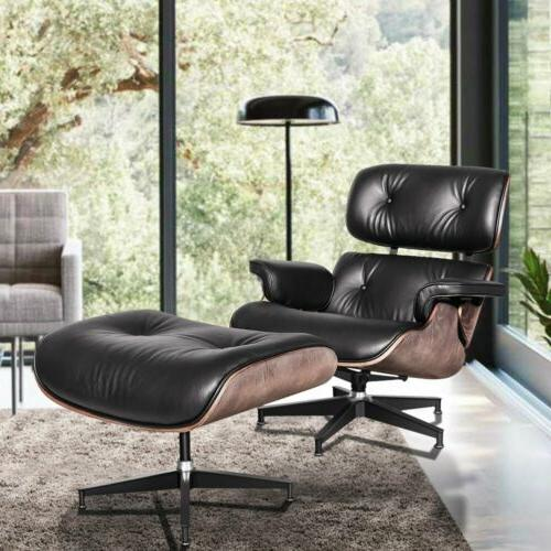 Eames Lounge Chair & Ottoman Leather Ashwood G5Y8
