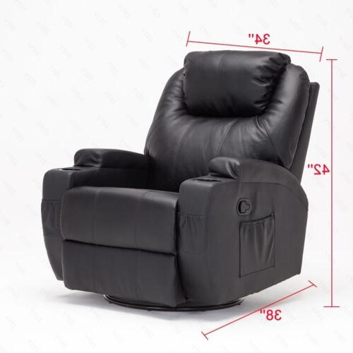 Electric Body Massage Chair Recliner Lounge Swivel Control