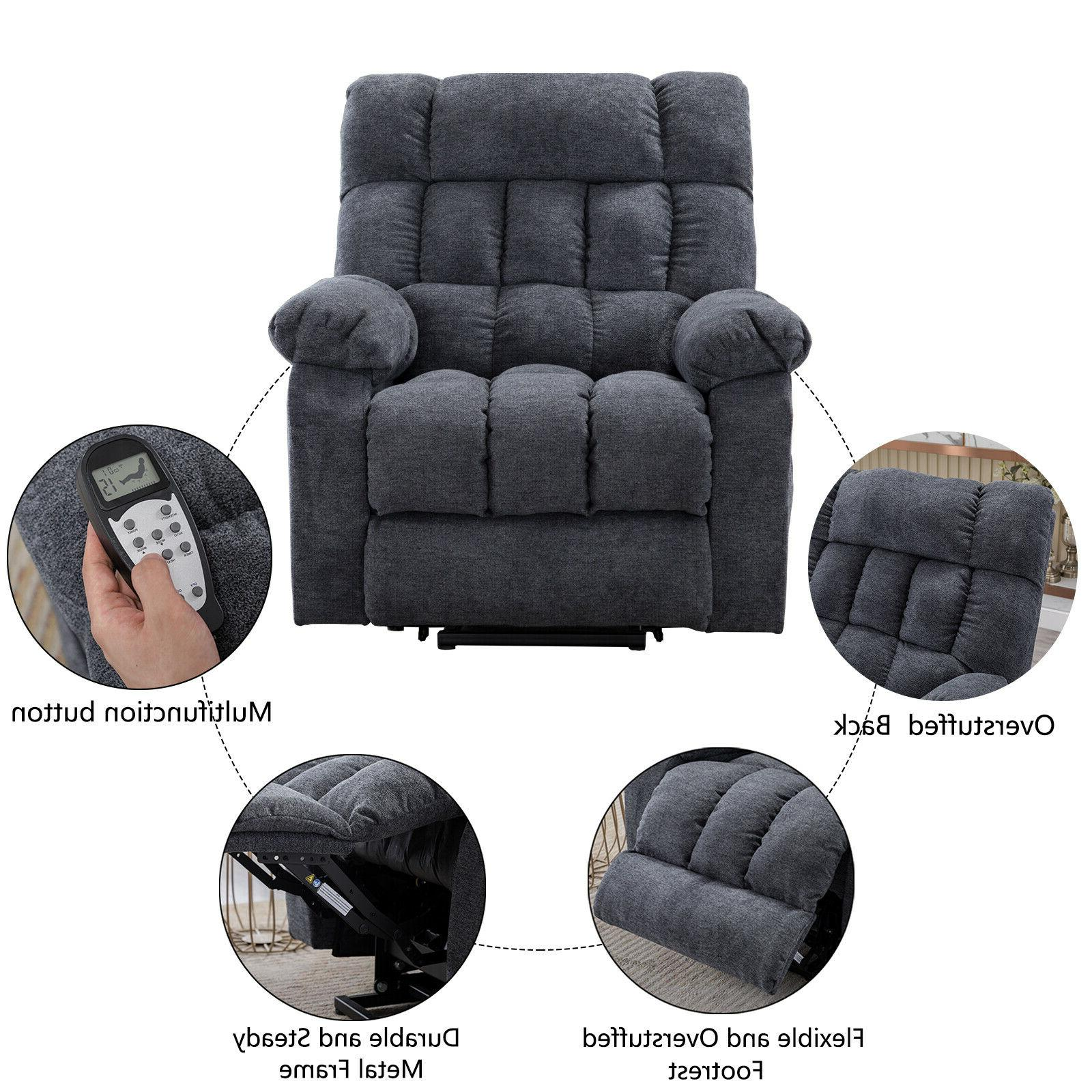 Electric Chair Lift Recliner Heated Vibration Sofa Elderly