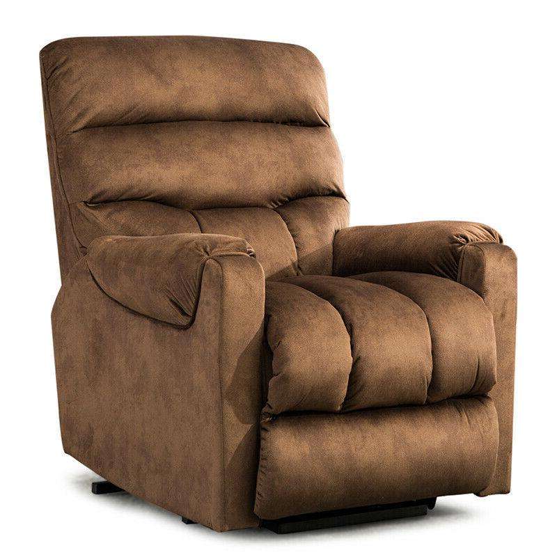 Electric Lift Recliner Armchair For Elderly Chair Living -Brown