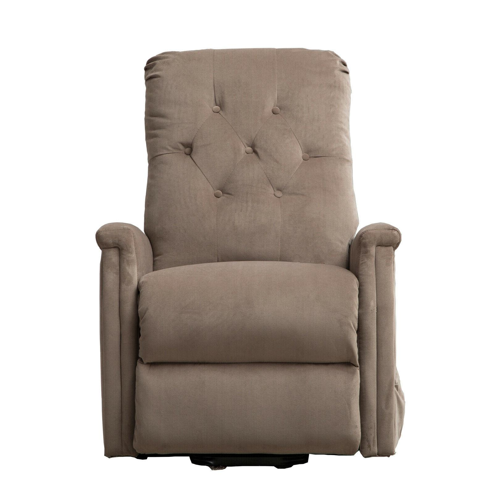Electric Lift Recliner Chair Microfiber Lounge