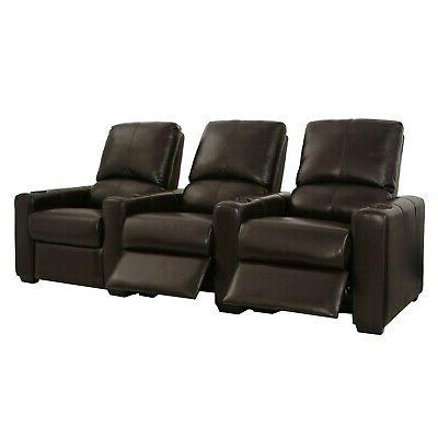 Seatcraft Brown Recline Row Home Seating Chairs