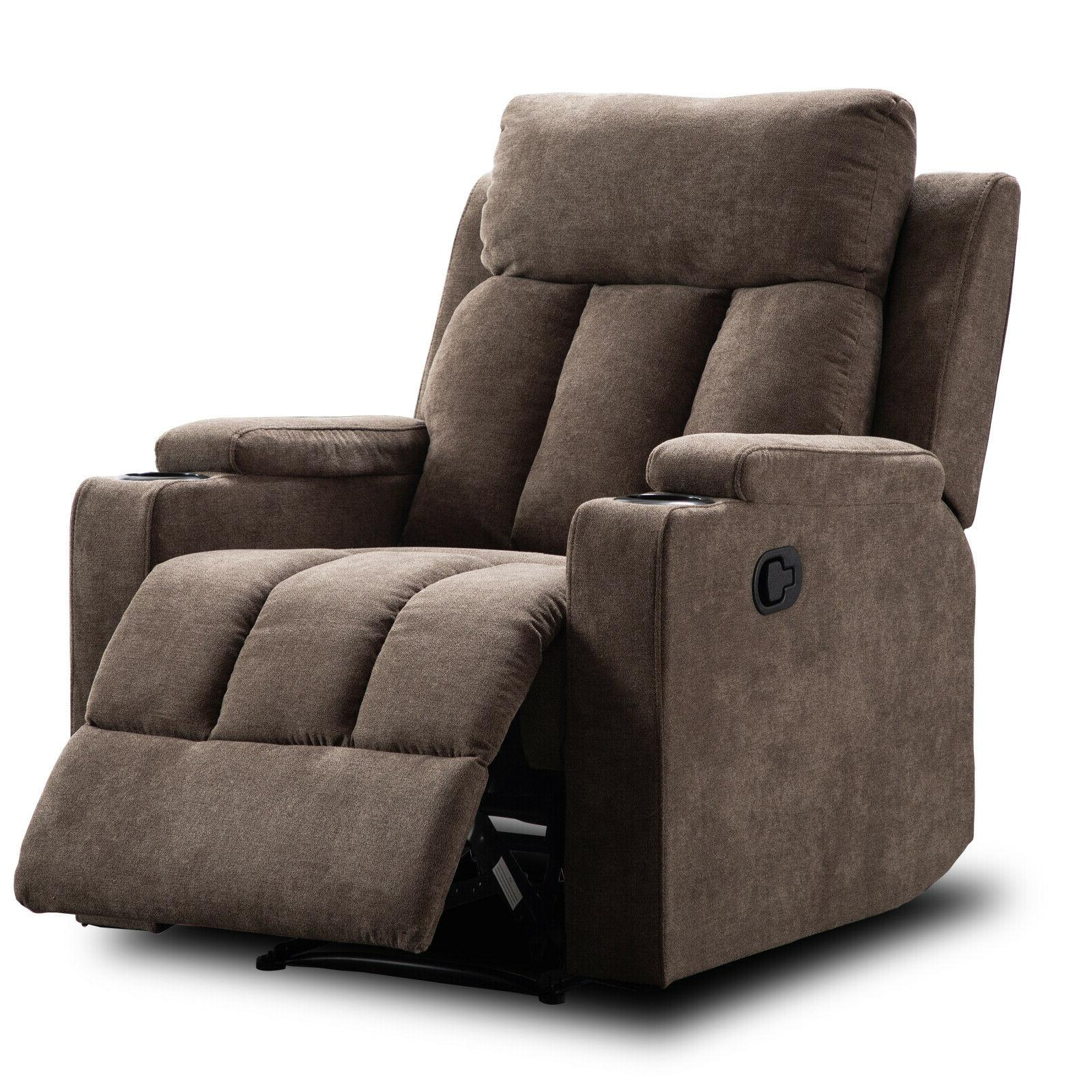 Manual Living Room Recliner Cup Holders