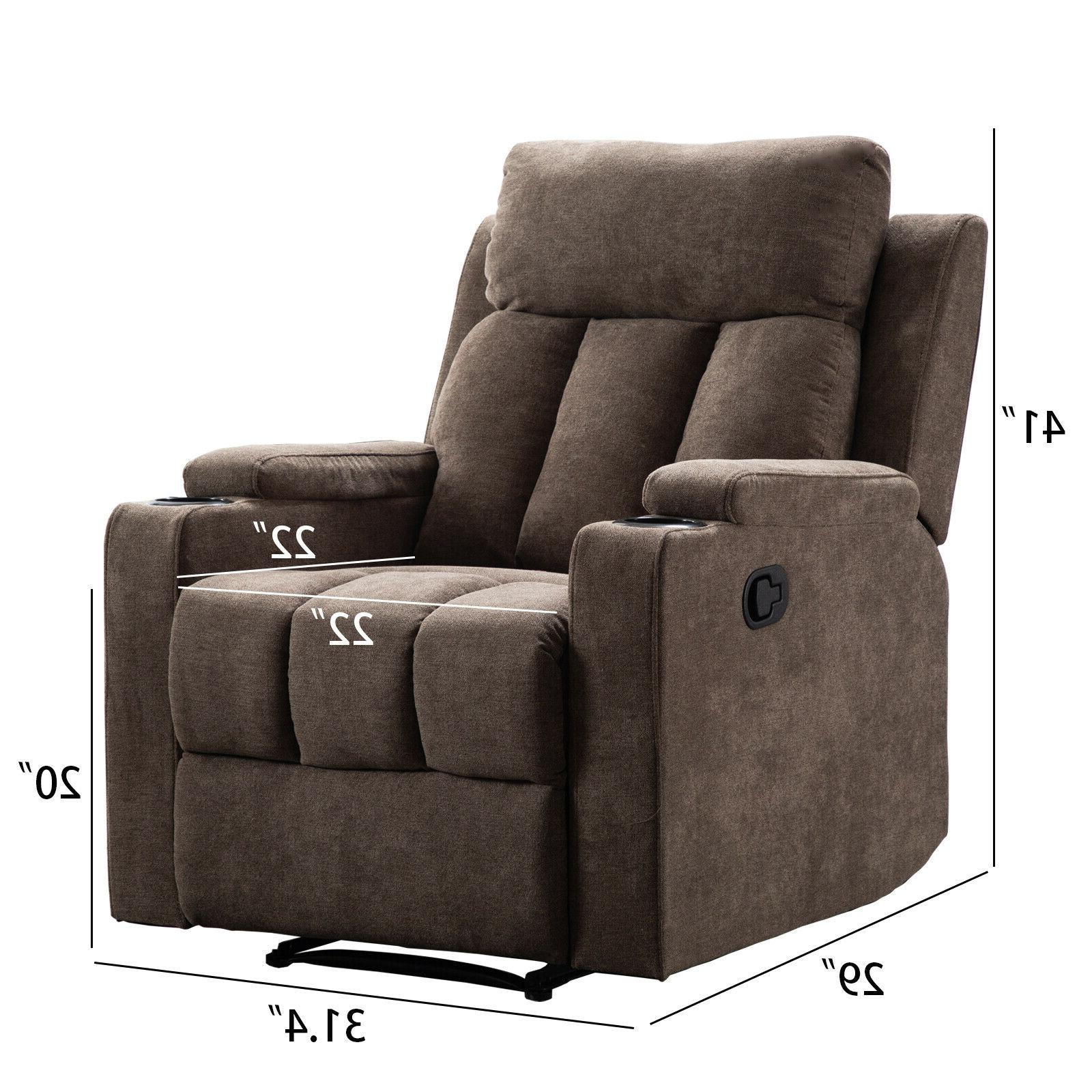 Manual Chair Living Room Recliner with Cup