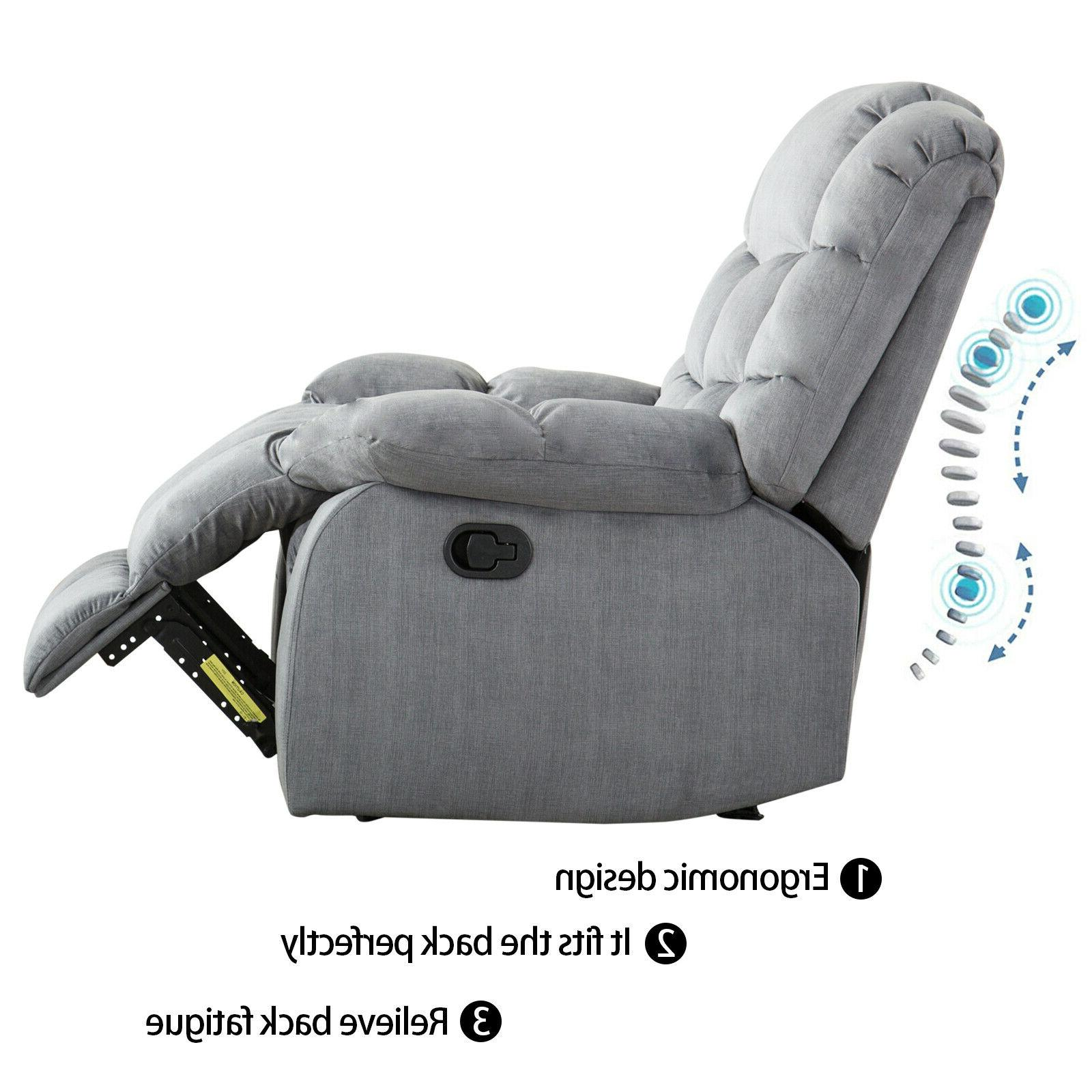 Fabric Manual Reclining Thickened Backrest