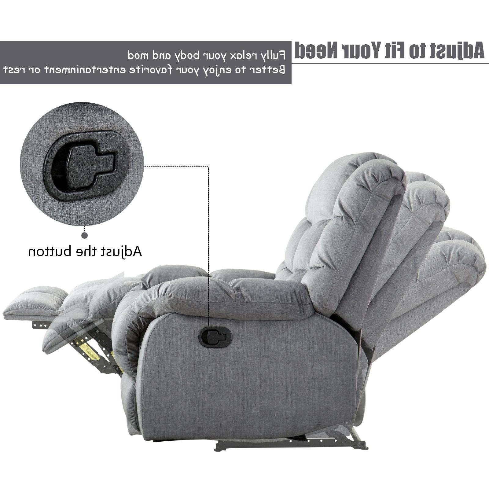 Fabric Recliner Manual Sofa Thickened