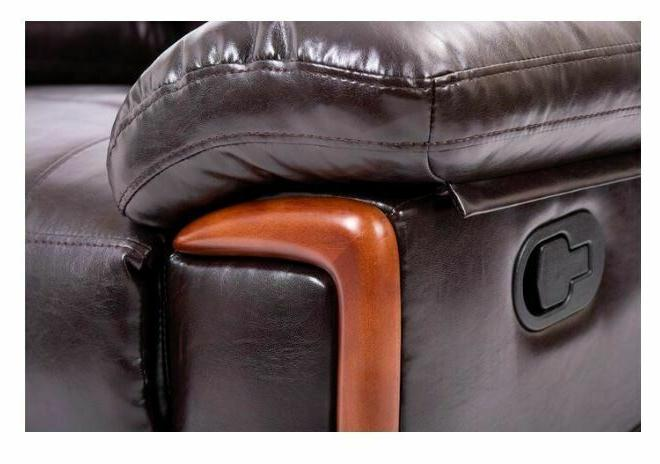 Faux Leather Brown Seat